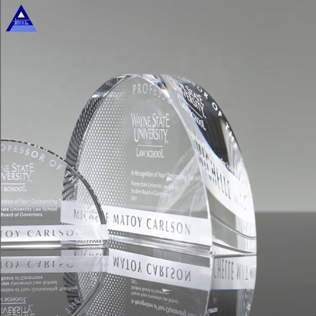 Made Crystal Arch Award Trophies,Custom Cheap Glass Paperweights