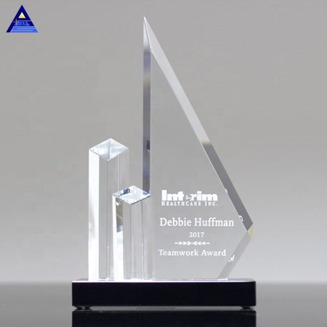 Custom Obelisk Award Emory Peak Crystal Trophy For Engraving Souvenirs Gifts
