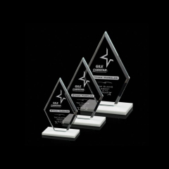Wholesale China Factory Custom Made New Design Glass Shield Shape Trophy Award Blank For Engraving