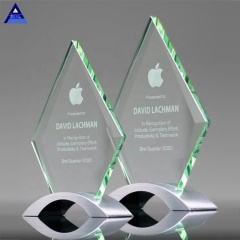 Souvenirs K9 Crystal Trophy Camber Diamond Crystal Glass Awards Wholesale