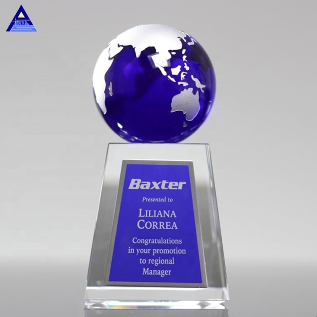 12Years Manufacturer Customized Apex World Globe Trophy