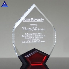 Zhejiang Pujiang New Decorative Customized Red Marquis Large Crystal Diamond Trophy