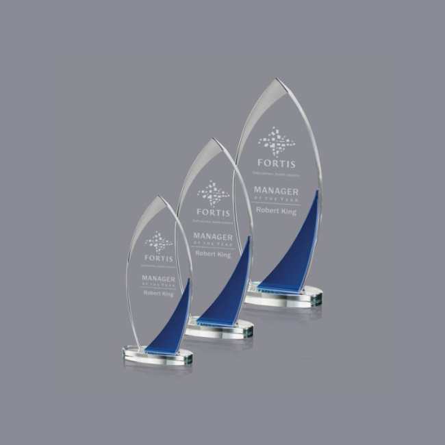 high quality clear acrylic blank glass award acrylic gift crystal award trophy