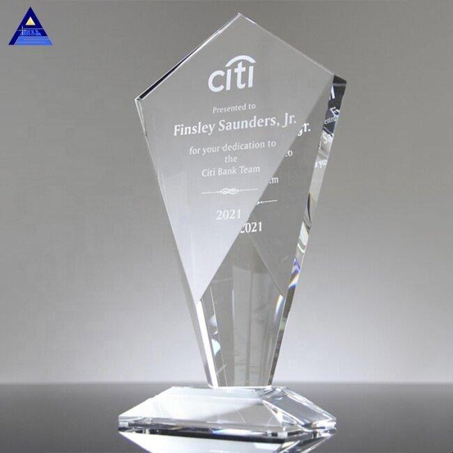Crystal Sky Scraper Award Trophy,Crystal Glass Gift Glass Trophy Blanks