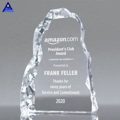 Cheap Blank Engraved Crystal Iceberg Trophy Glass Transparent Award