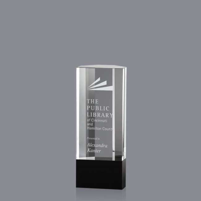 New Style Dissimilarity engraved crystal cube discount trophy custom  award crystal trophy