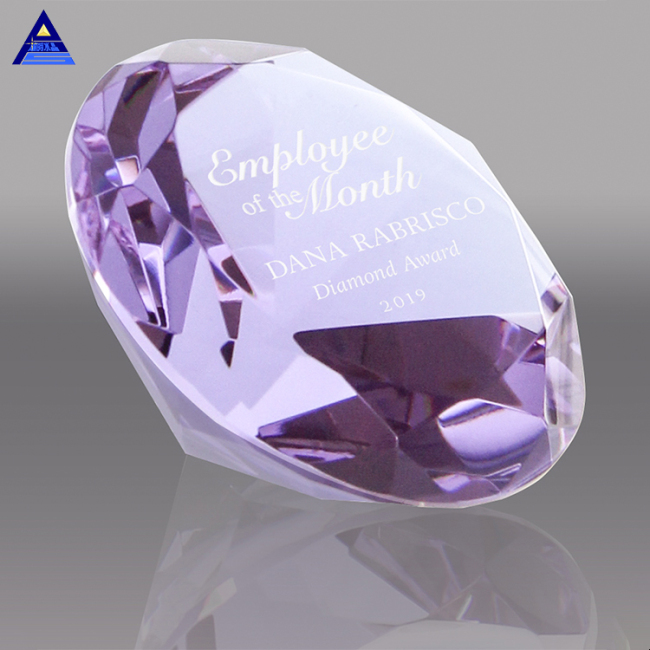 Clear 3D Engraved Customize Logo Crystal K9 Glass Crafts Wedding Decoration Paperweight Diamond