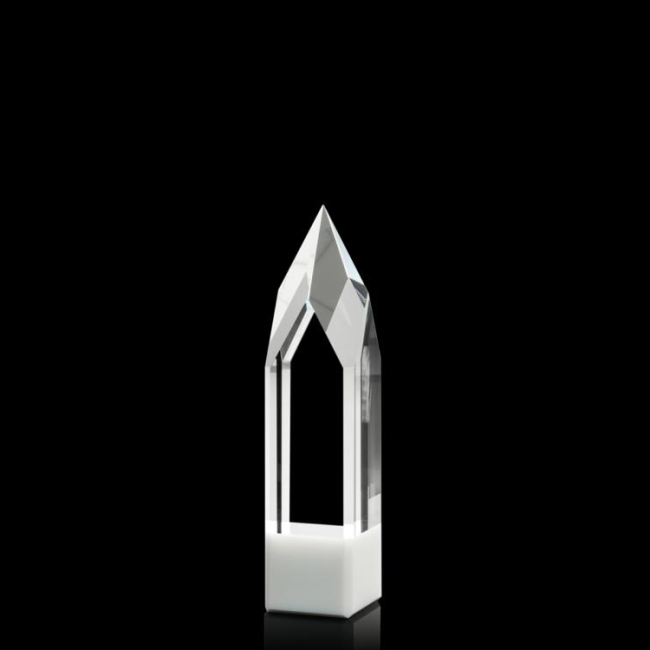Creative Custom Logo Printing Engraving Glass Crystal Trophy For Motorcircle Race