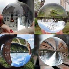 Wholesale Custom home decoration homemade with wooden stand blank Clear Dia 80mm Transparent K9 crystal ball
