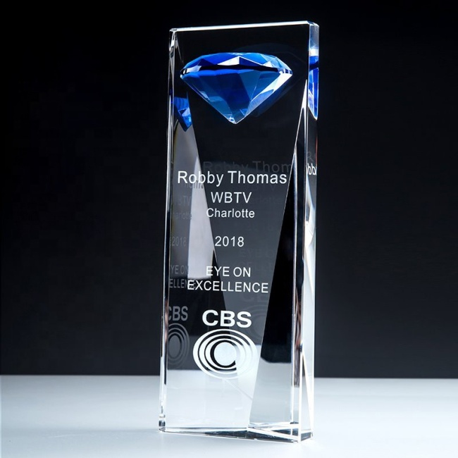 FS High quality Diamond Tops Crystal Trophy Awards Cup Encourage Souvenir for Champion Drop Shipping