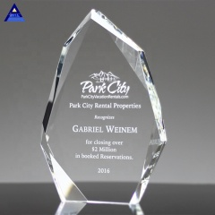 Faceted Engraved Crystal Block Trophy for Legacy Honor Awards