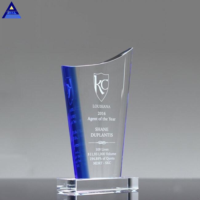 High Quality Cheap Custom Modern Design Business Crystal Award Trophy K9 Art Crystal Trophy Gift Craft