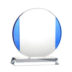 New Designed Custom Souvenir Gift K9 Crystal Round Awards And Trophies For Various Sports And Performances