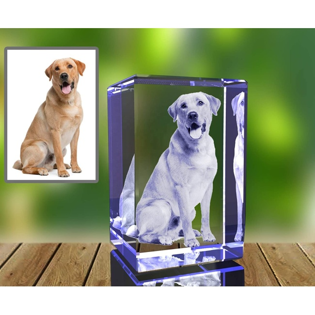 3D Laser Etched paperweight Crystal Glass Cube Birthday Christmas Romantic Gifts No included LED base