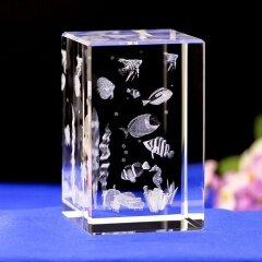 Cheap Animal Fish Underwater World 3D Laser Crystal Crafts