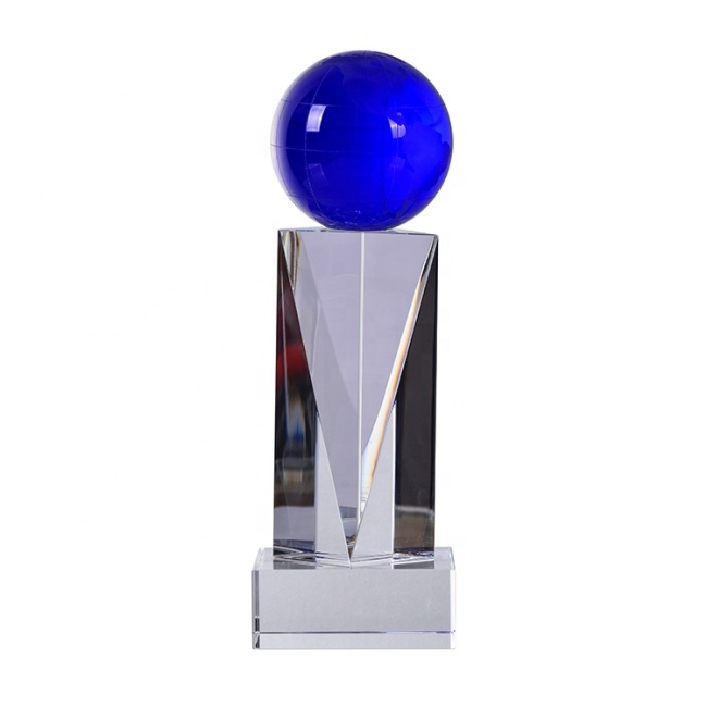 Award Product Type And Europe Regional Feature Cheap Crystal Globe Award Trophy