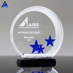 2019 Popular K9 Crystal Trophy Star Award For Business Gift