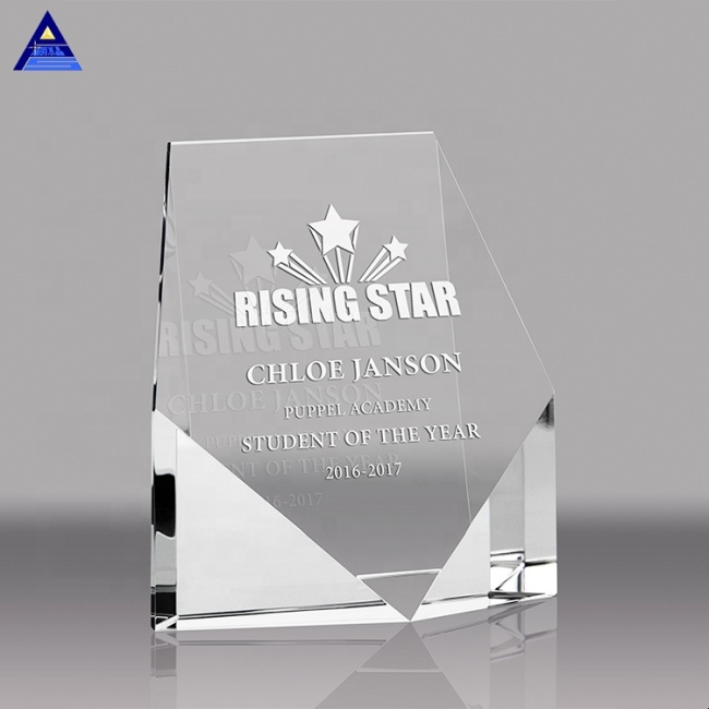 Custom star crystal glass paperweight for home decoration