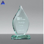 Factory Wholesale Beveled Flame Jade Glass Crystal Trophy Award With Base