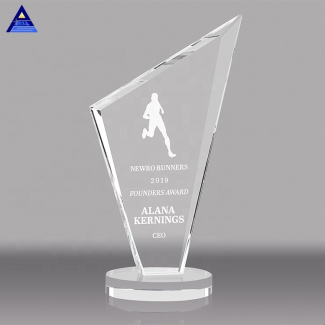 New Design Laser Engraving Glass Plaques Crystal Awards And Trophies