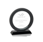 China Wholesale High Quality Blank Custom Crystal Circle Plaque Award with Metal Base