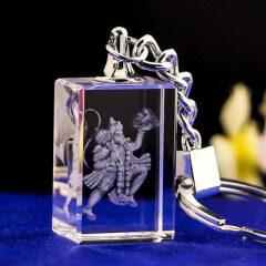 New Year Gifts Cheap Custom Design LED Crystal Keychain Custom Logo Laser Engraving Crystal Key Ring