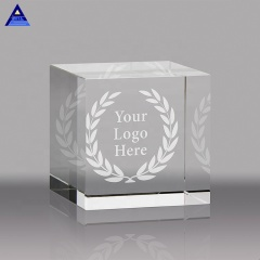 Hot Sale High Quality 3D Laser Engraved Blank K9 Crystal Glass Cube For Laser Engraving