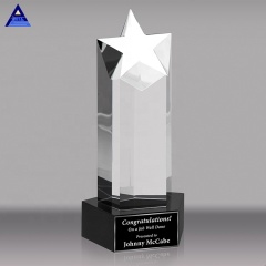 Wholesale Custom New Design Star Type Crystal Trophy Crystal Award Crystal Cup For Home Decorations