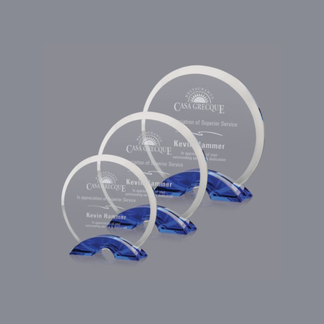 Wholesale China Trade Factory Supply Circle Shaped Clear K9 Crystal Blank Glass Award