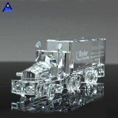 China New Souvenir Gifts Crystal 18 Wheeler Truck Award Trophy
