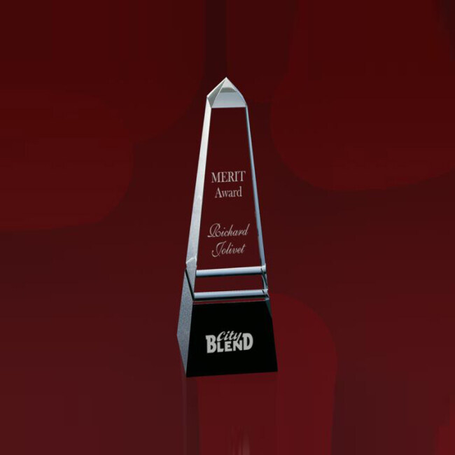 High Quality Cheap Custom Obelisk Crystal Glass Awards And Trophies For Souvenir Gift