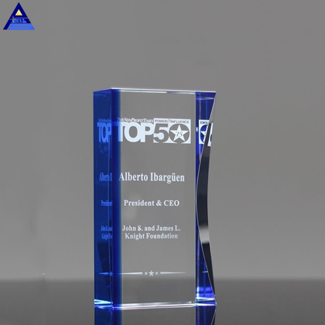 Wholesale Price New Arrival Custom Logo K9 Engravable Crystal Award