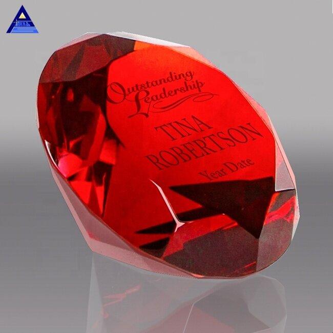 Red Gem Glass diamond shape Crystal Wedding Favor
