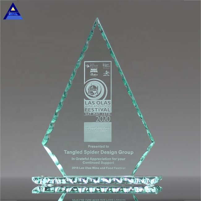 Modern Fashion Design Custom Logo Jade Glass Conquest Award Trophy,Crystal Cup Trophy