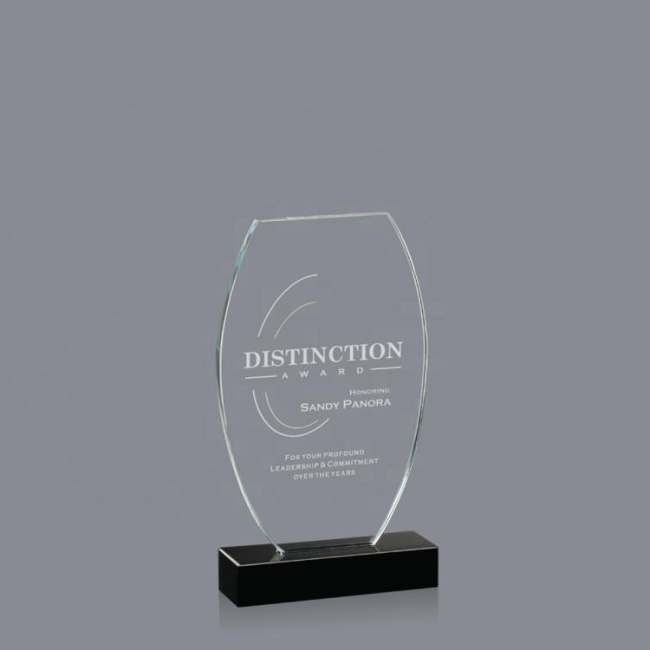 Wholesale Custom Clear Crystal Trophy Awards And Acrylic Crystal Plaque For Souvenir