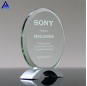 Pujiang Wholesale Creative 3D Engrave Printing Logo New Crystal Round Trophy
