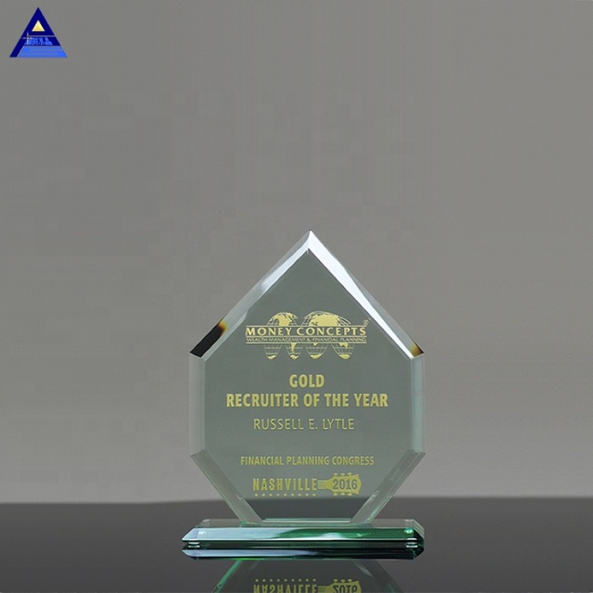 2019 High Grade Cheap Clear K9 Crystal Shield Glass Award Jade Trophy