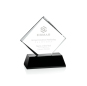 Wholesale low price black and white transparent business custom fashion crystal award