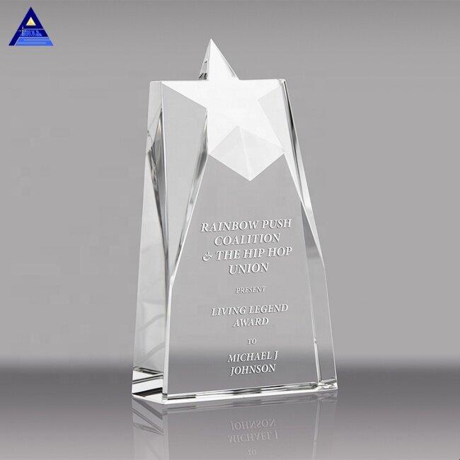Beveled Crystal Star Tower Crystal Trophy