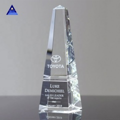 Unique Wholesale Customized Crystal Obelisk Award Trophy As Islamic Souvenir Gifts