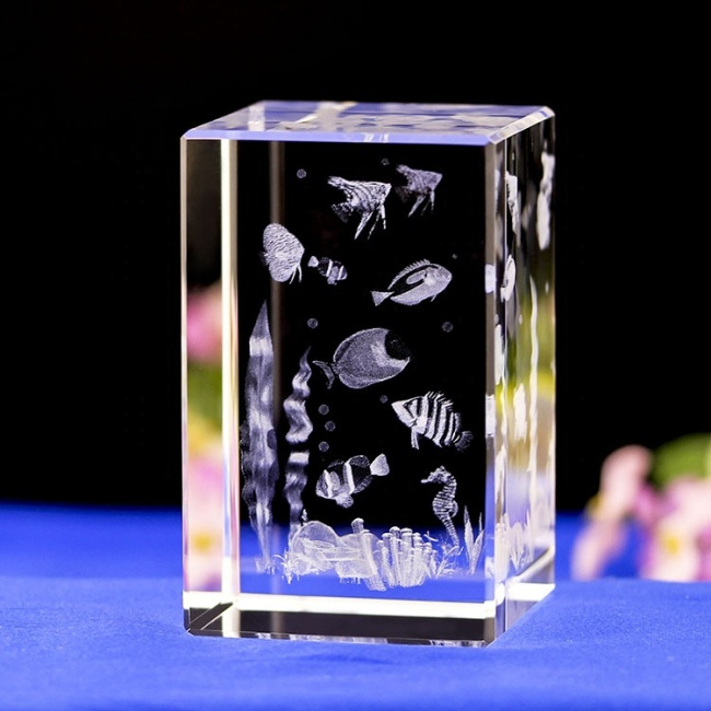 Cheap Animal Fish Underwater World 3D Laser Crystal Crafts