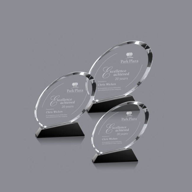 Wholesale Low Price High Quality Customized Crystal Oval Corporate Award For Gift