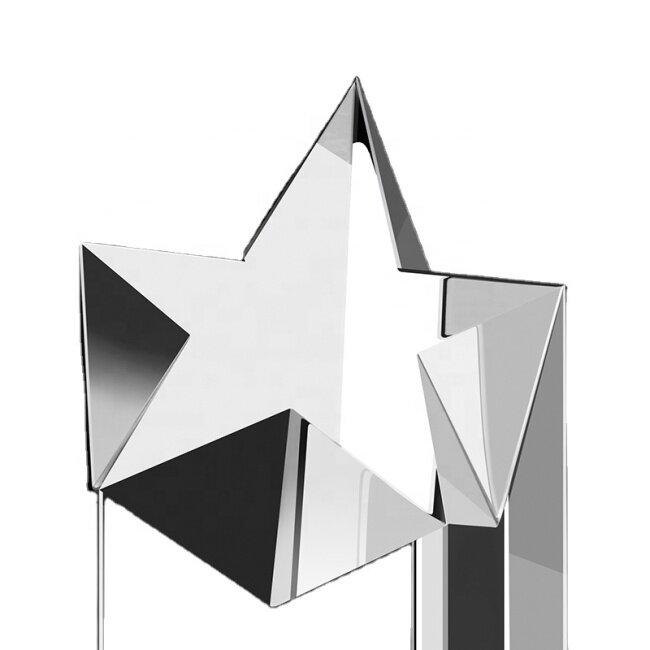 Award 3D Laser Awards Star Engraving Sport Block Glass Trophies Cube Crystal Blank Trophy