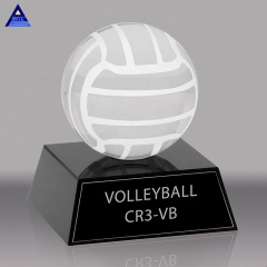 Factory Price 100mm 120mm K9 Crystal Volleyball Trophy Crystal Sports Ball