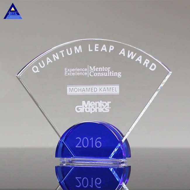 Wholesale Custom  Fashion Radiant Cobalt Engraving Plaque Trophy