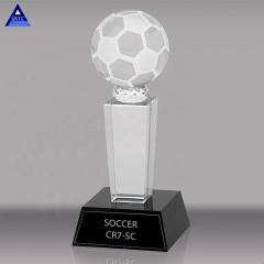 K9 Crystal Golf Trophy Crystal Soccer Ball Sports Souvenir Trophies Basketball and Football Trophy
