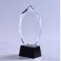 Custom Design High Quality Best Selling Crystal Clear Oscar Award Trophy With Black Base