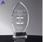 Fancy Engraving K9 Accolade Flame Crystal Award For Decoration