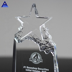New Welcome Popular Crystal Star Trophy For Mountain Bike Souvenir MOQ 1Pcs