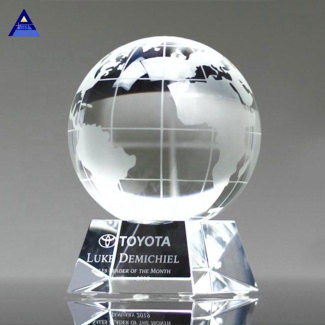 2020 Newest Glass Globe Awards- -No.1 Crystal Trophy Factory